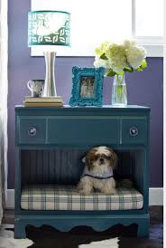 Nightstand Dog Bed  An old flea-market dresser into a combination bedside  table and pet bed. DIY Network has more unique ideas and instructions on  how to ...