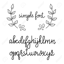Simple Handwritten Pointed Pen Calligraphy Cursive Font Calligraphy