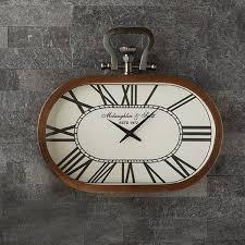 charleston oval copper wall clock