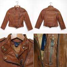 ralph lauren kids girls leather jacket and brown ralph lauren leather jacket