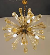 gold sputnik chandelier. Midcentury Sputnik Chandelier, Baloton Gold Rods. Alberto Dona, 1990s, For Camer Glass Chandelier