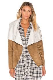 bb dakota bourne jacket with faux fur lining camel women bb dakota lord and taylor