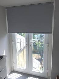 ... Gray Roller Blinds Blackout Roller Blind In Flint Colour To French Doors  For A House Home ...
