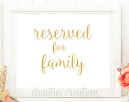 reserved sign templates reserved family sign etsy