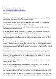 Wedding Speech Example Creative Best Man Wedding Speeches 9