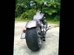bobber chopper honda shadow 750 spirit fat tire 240 motorcycles