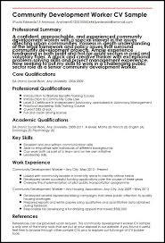 Community Development Worker Cv Sample Myperfectcv