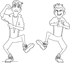 Small Picture Brothers Kratts dancing coloring page