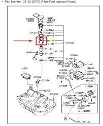 I CAN NOT FIND A FUEL FILTER ON MY HYUNDAI ACCENT 2004. ...REMOVE ...