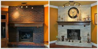 spring fireplace painting ideas for elegant painted brick fireplace before and after