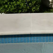 sapphire waterline tiles display pool 2 indian dawn honed sandstone bullnose arctic sky interior sky blue