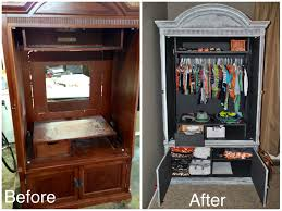 Repurposed Repurposed Refinished Tv Armoire For Babys Clothes For My