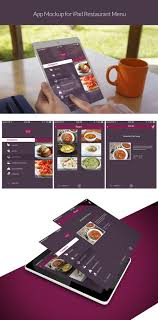 restaurant menu design app entry 1 by photogra for design an app mockup for ipad