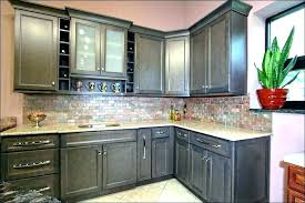 gray stained kitchen cabinets black grey finish maple