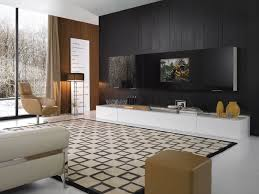 graceful modern entertainment center ideas 24 interior large black screen on wall plus white wooden cabinet