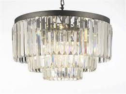 home design chandelier lights uk g7 1100 9 retro odeon crystal glass fringe 3 tier