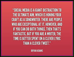 Distraction Quotes Awesome Popular Craft Quotes About Social Media Is A Ghaint Distraction