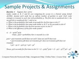 Sample Projects  amp  Assignments Computer Network Homework Help   Assignment Help   Online Tutor   Course Help