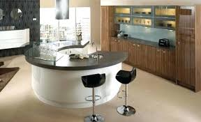 modern curved kitchen island. Modern Curved Kitchen Island With Seating N