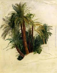 study of palm trees painting edward lear study of palm trees art painting