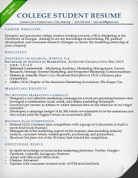 Sample Resume College Resume For College Students Template Business