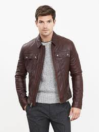bruce willis leather jacket in s danier and banana republic