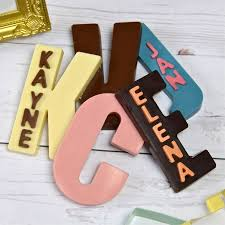 personalised chocolate letters