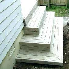 wood prefab wooden steps outdoor prefabricated stairs deck exterior stair railing
