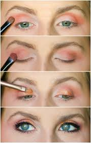 learn how to create an orange red and copper eye look with e l f eye