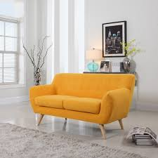 Mid Century Modern Love Seat Living Room Furniture - Assorted Colors - Free  Shipping Today - Overstock.com - 17256974