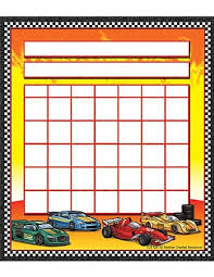 Teacher Created Resources Race Cars Incentive Charts 5311