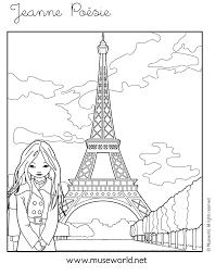 Coloriage Jeanne Tour Eiffel Coloriages Jeanne Po Sie Gratuits
