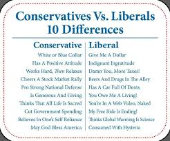 Conservative Vs Liberal Chart Conservatives_vs_liberals_10_differences Liberal