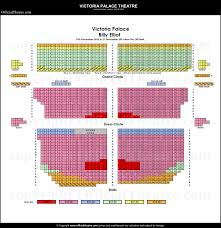 Victoria Palace Seating Chart Victoria Palace Theatre London Seat Map And Prices