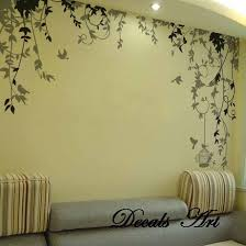 floral artwork hanging birdcage large electric wall murals art living room decoration striped sofa large modern on wall art murals vinyl decals stickers with wall art best 10 wall murals to design your home walmart murals for