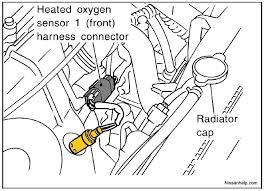 1996 2001 nissan altima o2 sensor location nissanhelp com O2 Sensor Wiring Color Codes at 2000 Quest 02 Sensor Wiring Diagram