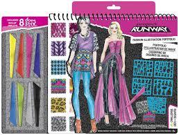 Fashion Design Software Used On Project Runway Fashion Angels Project Runway Fashion Illustration Portfolio With Chroma Stix