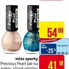 Lak Na Nehty Precious Pearl Miss Sporty V Akci Teta Drogerie Od 382017