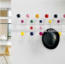 Coloured Ball Coat Rack Gorgeous Wholesale Fashion Design Golden Colour Wooden Balls Multipurpose