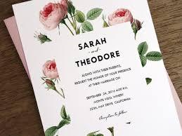 Printable Wedding Invitations Vintage Pink Roses Instant