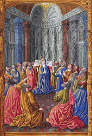 With the holy spirit among the disciples, the church was born. Punkosd Wikipedia