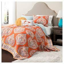 Orange : Quilts : Target & Harley Quilt Tangerine 5 Piece Set - Lush Decor Adamdwight.com