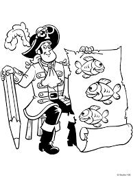 Kleurplaat Piet Piraat