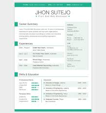 Cool Resume Templates Mesmerizing Charming Awesome Resume Templates Amazing Free Microsoft Word