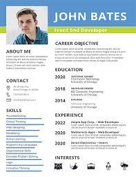 Front End Developer Resume Mesmerizing Front End Developer Resume Template Download 28 Resumes In PSD