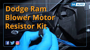 how to replace install blower motor and resistor 2002 08 dodge ram 2002 Dodge Ram 1500 Blower Motor Wiring Diagram how to replace install blower motor and resistor 2002 08 dodge ram 1500 buy auto parts at 1aauto com youtube 01 Dodge Ram Wiring Diagram