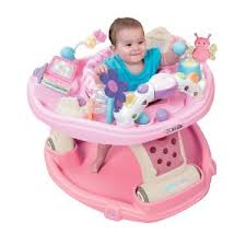 Kolcraft Baby Sit and Step 2-in-1 Activity Center in Flutter Love ...