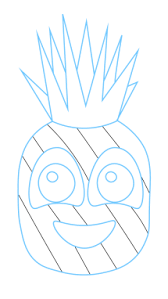pineapple drawing. how to draw a pineapple step 7 drawing