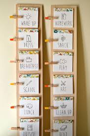 Routine Chart Ideas Diy Daily Routine Chart For Kids Daily Routine Chart For