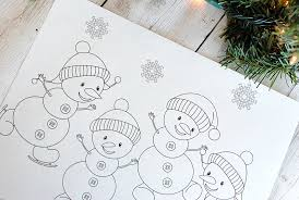 Christmas Coloring Paper Free Printable Christmas Coloring Pages Crazy Little Projects